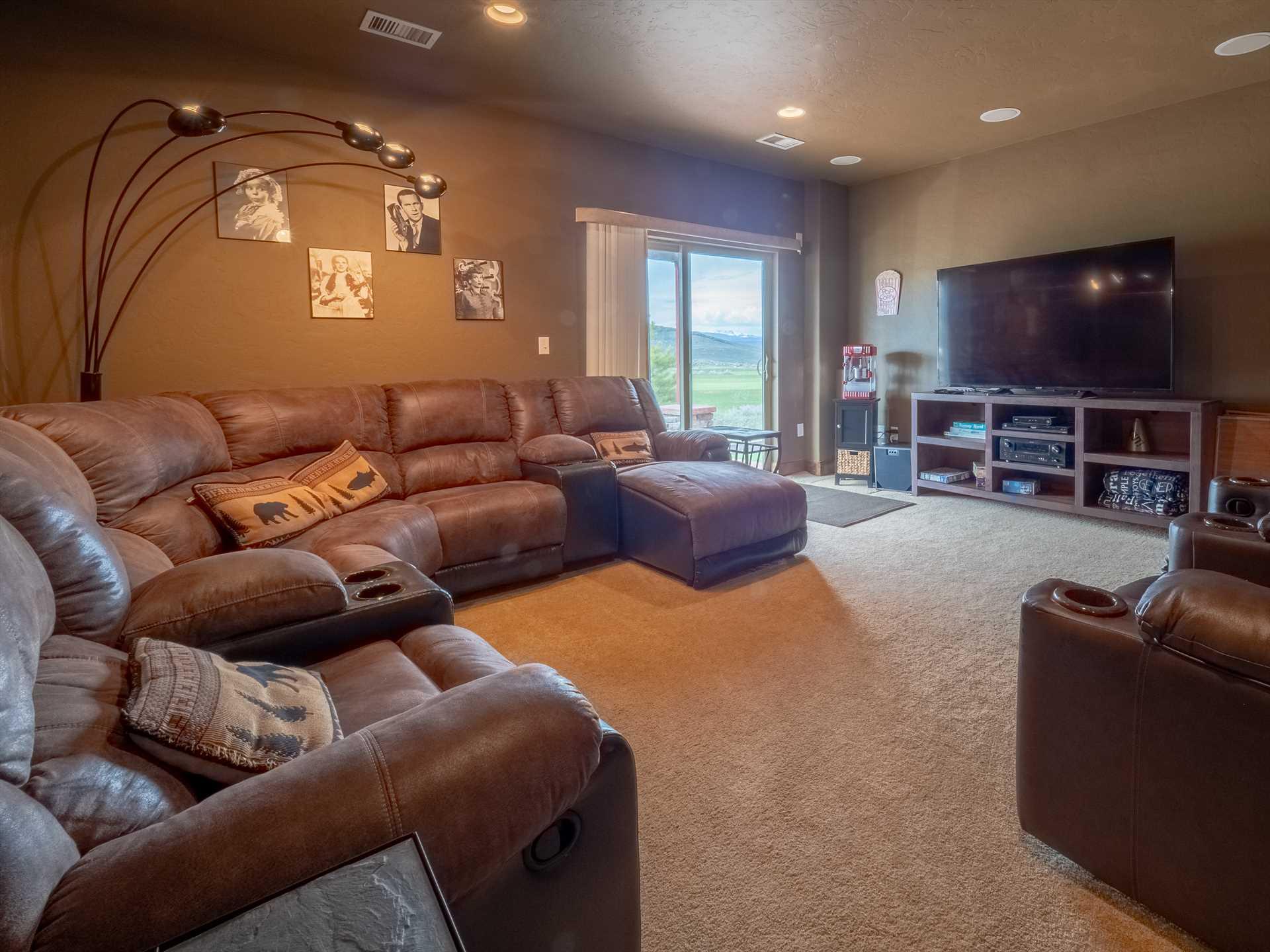 Lower level TV room